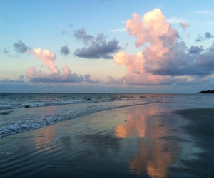 clouds, nature, and sea image