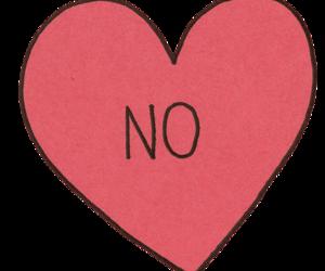 no and heart image