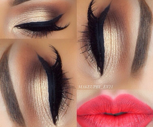 lips, makeup, and eye image