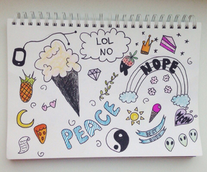 draw, nope, and peace image