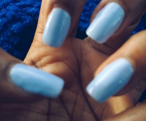 blue, girl, and nailpolish image