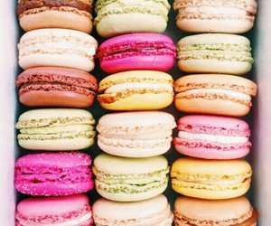 delicious, eat, and macarons image
