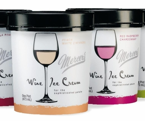 ice cream and wine image