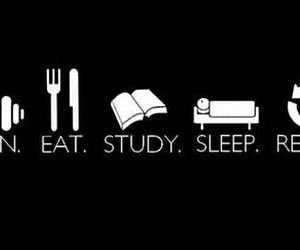 eat, sleep, and study image