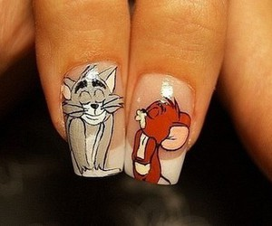 nails, tom and jerry, and Tom image