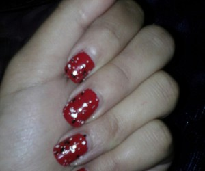 beauty, nails, and red image