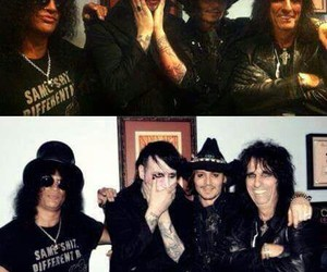johnny deep, slash, and alice cooper image