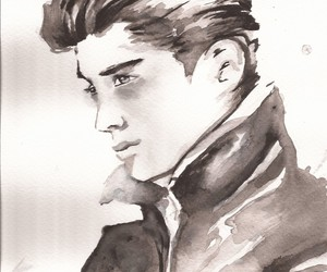 drawing, zayn malik, and one direction image