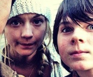 the walking dead, emily kinney, and carl image