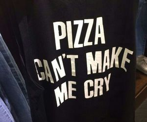 pizza, food, and cry image