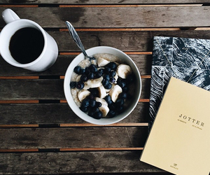 coffee, book, and breakfast image