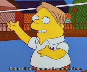 summer, simpsons, and the simpsons image