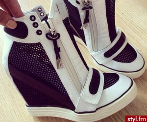 black, sneakers, and fashion image