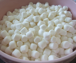marshmallow, food, and white image