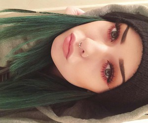 eyes, girl, and septum image