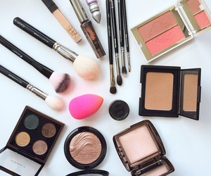 cosmetics, palettes, and girly image
