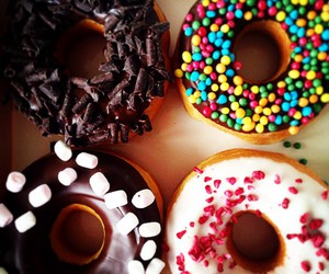 love, chocolate, and donuts image