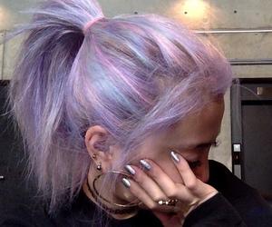 hair, grunge, and nails image
