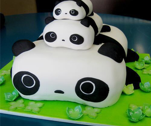 panda, cake, and food image