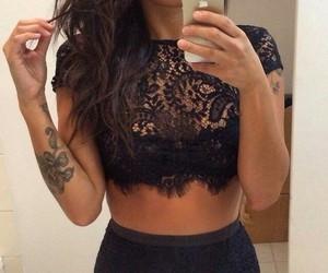 fashion, tattoo, and black image