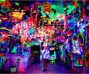 neon, colors, and cool image