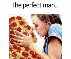 pizza, love, and man image
