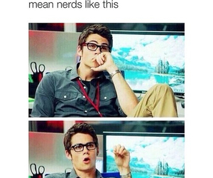 nerd, teen wolf, and Hot image