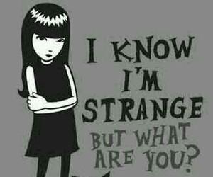 strange and quote image