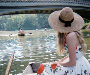 boat, dress, and hat image