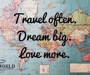 Dream, travel, and love image