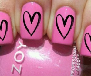 heart, cute nails, and fashion nails image
