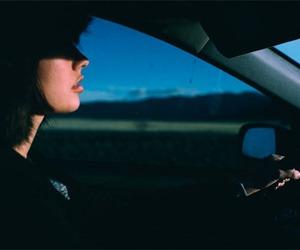 car, girl, and grunge image