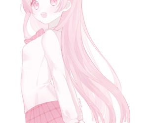pink, anime, and girl image