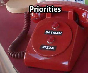 pizza, batman, and red image