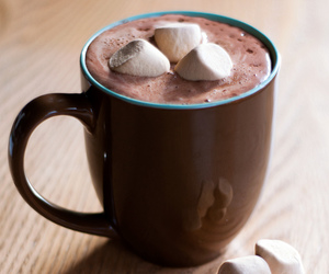 drink, chocolate, and marshmallow image