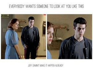 romance, holland roden, and teenwolf image