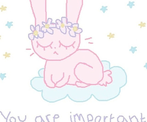 bunny, happy, and drawn image