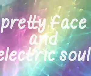 electric, pretty, and face image