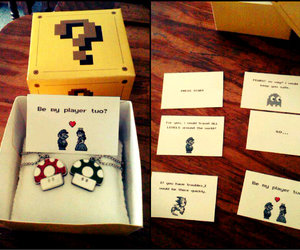 box, boyfriend, and cards image