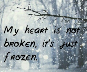 alone, sad, and frozen heart image