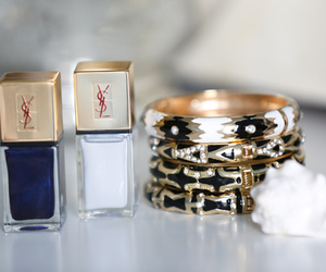 bracelet, nails, and YSL image