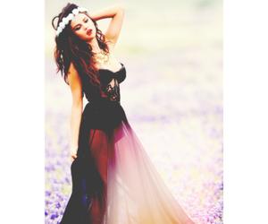 selena gomez and flowers image