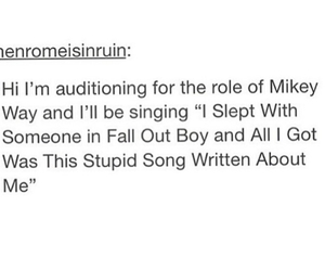 band members, fall out boy, and mikey way image