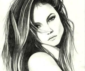 drawing, girl, and inspiration image