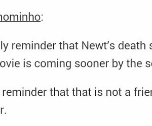 character, newt, and death scene image