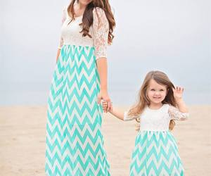 mom, dress, and fille image