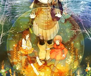 anime sad girl, anime alone, and anime friend image