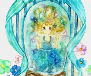 adorable, anime girl, and anime snow globe image