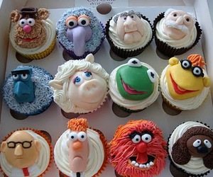 cupcake, muppets, and food image