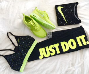 bra, green, and neon image